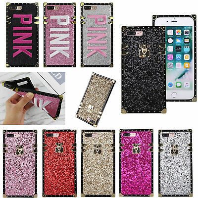 $ CDN6.88 • Buy Square Glitter Phone Case For IPhone 11 Pro Max XS XR 6 7 8 SE Samsung S20