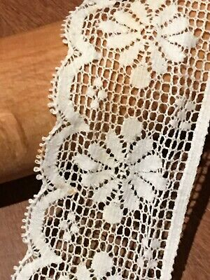 Beautiful Lace Edging Cotton 2  Width Nice For Dresses Haberdashery • 2£