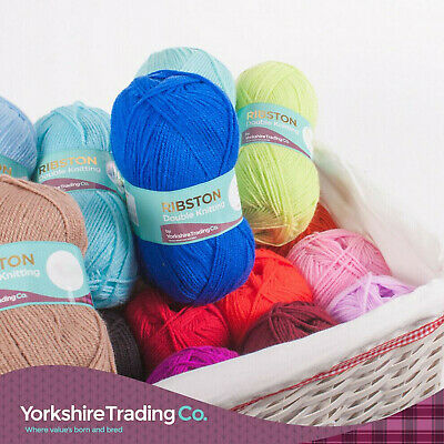 100g Soft Double Knit Wool Ribston Colourful Yarn Balls Knitting Wool DK • 2.29£
