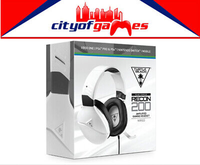 AU94.95 • Buy Turtle Beach Recon 200 Headset White PS4/Xbox One/Switch/PC/Mobile Brand New