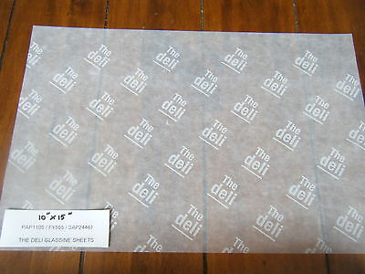 £6.50 • Buy 50 Printed 'THE DELI' Glassine Food Wrap Wax/Greaseproof Paper Sandwich/Cheeses