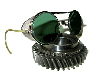 $149.99 • Buy Antique Green Willson Sunglasses Goggles Vtg Rockabilly Steampunk Safety Glasses