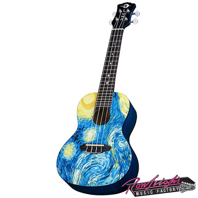 AU239 • Buy Luna LUUKESTRC Starry Night Concert Ukulele With Gig Bag