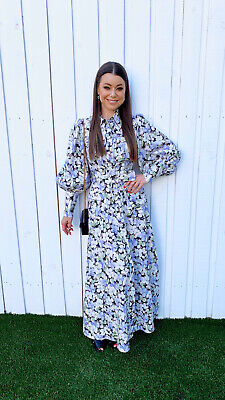 AU500 • Buy Genuine Zimmermann Ninety-Six Long Dress In Pansy Print Size 0, As New Condition
