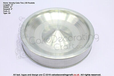 3D Novelty Cake Baking Tins And Pans | Roulette Wheel Cake Shape  • 7.99£