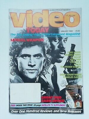 VIDEO TODAY MAGAZINE. January 1988. Lethal Weapon. Madonna. • 4.99£