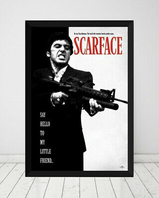 AU85 • Buy Scarface *Framed* Large Poster (90cm X 60cm) Ready To Hang