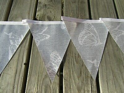 £6 • Buy Grey Butterfly Pvc Garden / Indoors Bunting 3mtrs Approx 10ft