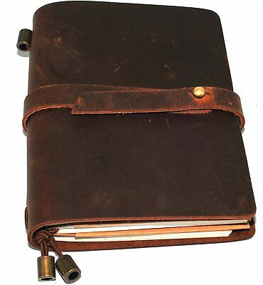£29.99 • Buy Leather Notebook Journal Handmade Vintage Leather Travel Diary Notepad Book Pad