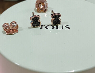 $44.10 • Buy Mini TOUS Motif Earrings In Rose Gold Vermeil With Spinels💫