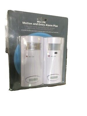 Micromark Security Systems Mini PIR Motion And Entry Alarm Plus Wirefree Keyfob • 29.99£