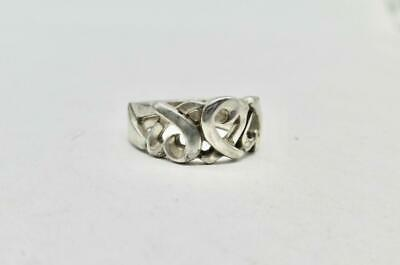 Tiffany & Co. Sterling Silver Paloma Picasso Triple Loving Heart Ring Size 5.75 • 65.62£