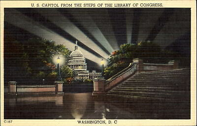 $2.55 • Buy US Capitol From Library Of Congress Steps Washington DC ~ 1930s