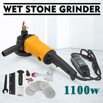 1100W Wet Polisher Variable Speed Angle Grinder Granite Marble Polishing Kit • 69.95£
