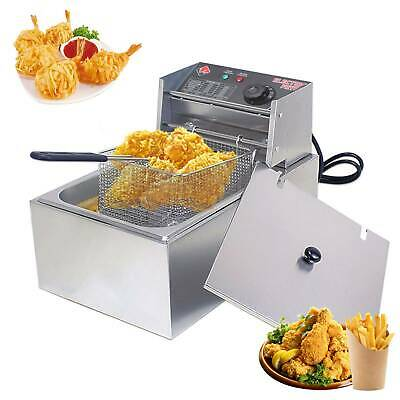 £44.69 • Buy 10L Electric Deep Fryer Commercial Countertop Fat Chip Stainless Steel Basket UK
