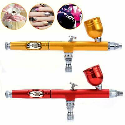 $12.44 • Buy Dual Action Gravity Feed Airbrush 0.3mm Gun Spray Nail Art Paint Tattoo Tool Kit