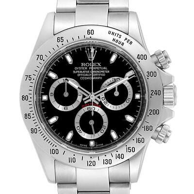 $ CDN25891.51 • Buy Rolex Daytona Black Dial Chronograph Stainless Steel Mens Watch 116520