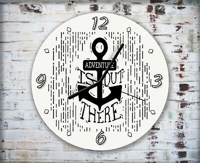 Nautical Art Anchor Wall Clock Home Office Bedroom Living Room Kitchen Decor • 16.95£