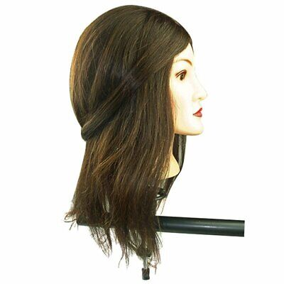 $17.99 • Buy HOT 18 /22  Long Real Hair Hairdressing Training Practice Mannequin Head A55D US