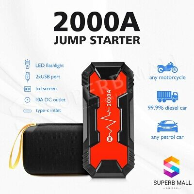 AU149.59 • Buy 36800mAh Car Jump Starter 2000A Portable Battery Charger Booster Power Bank 12V