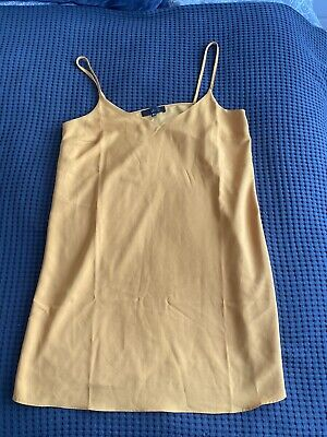 Missguided Mustard Cami Dress Size 12 Topshop River Island • 0.99£