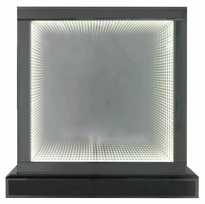 £79.99 • Buy  Medium Smoked Mirror Square Table Lamp With Infinity Led Lights 42cm Sale