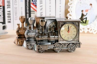 Train Model Alarm Clock Creative Home Birthday Gift For Boy Cool Clock UK • 6.99£