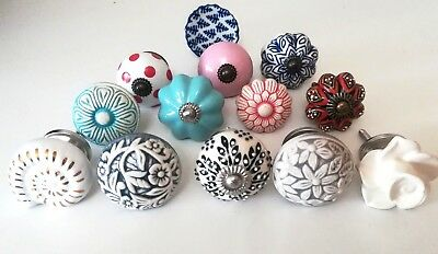 Set Of 2 Mix Vintage Shabby Chic Cupboard/Door Knobs Handles Drawer Pulls.  • 2.50£