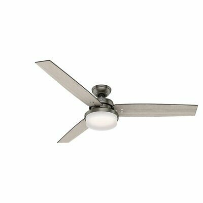 $249.99 • Buy Hunter 59458 Hunter Sentinel Ceiling Fan With Light And Remote, Brushed Slate