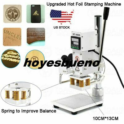Upgraded Hot Foil Stamping Machine For Leather PVC PU Card Logo Printer 10x13CM • 117£