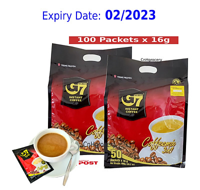 AU41 • Buy G7 Coffee Vietnamese Trung Nguyen G7 Instant Coffee 3 In 1 (100 Sachets X 16g)