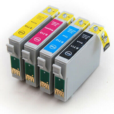 £6.98 • Buy T0715 Set Of Compatible Ink Cartridges Replacement For T0711 T0712 T0713 T0714