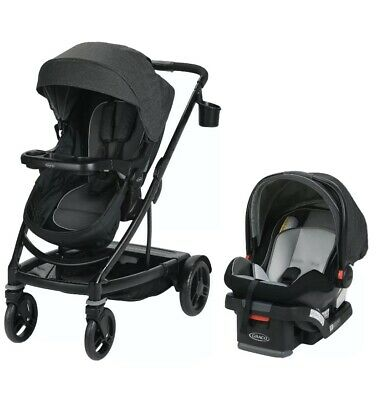 Graco Baby UNO2DUO Travel System Stroller W/ SnugLock 35 Infant Car Seat Ace NEW • 264.35£