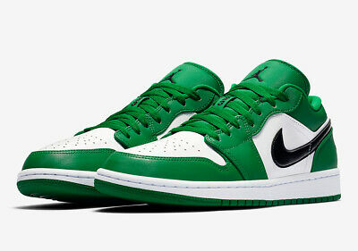 $100.01 • Buy Air Jordan 1 Low Green White Black 553558-301 Basketball Shoes Men's NEW