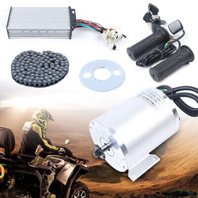 $252.59 • Buy Electric Brushless Motor 2000W 60V DC & 42A Controller For Motorcycle Go-Cart