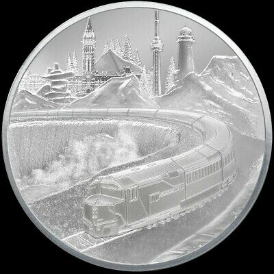 $ CDN249.99 • Buy 2019 5oz TD  Coast-To-Coast Silver Round - Mintage  500  - Encapsulated