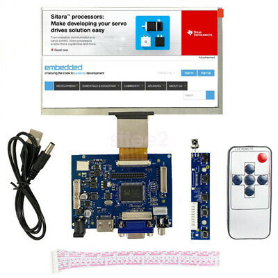 10.1 Inch LCD Screen Display Monitor Driver Board HDMI/VGA/2AV For Raspberry Pi • 26.98£