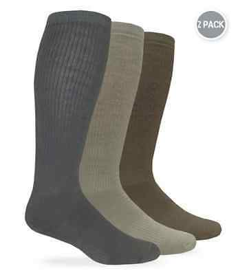 Military Combat Boot Socks 2-pair Pack L (10-13) And XL (12-16) Made In USA NEW • 12.35£