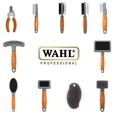 Wahl Professional Dog Pet Grooming Tools Slicker Nail Clippers Brush Comb Apron • 11.99£