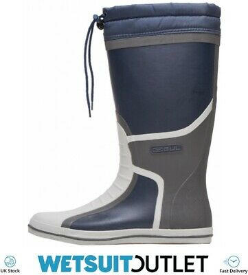 Gul Full Length Deck Sailing Boots Boot Navy Charcoal Quick Dry Wetsuit Mm • 52.50£