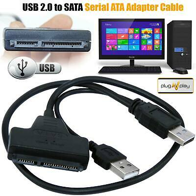 £3.39 • Buy USB 3.0 To SATA 22 Pin 2.5 Inch Hard Disk Drive SSD Adapter Connector Cable Lead