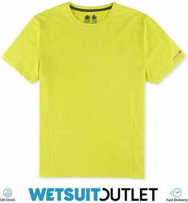 Musto Evolution Sunblock Short Sleeve T-Shirt Tee Top SULPHUR SPRING Yachting • 30.23£