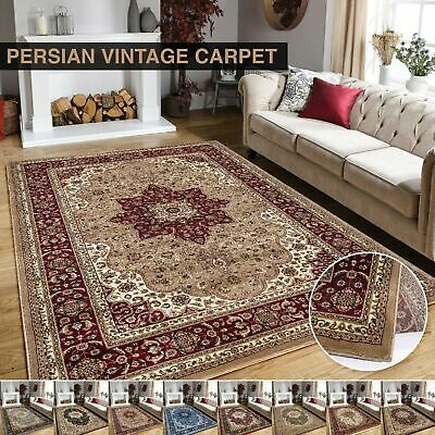 New Luxury Rome Vintage Traditional Rug Small Medium Large Rug Carpet Mat Runner • 79.99£