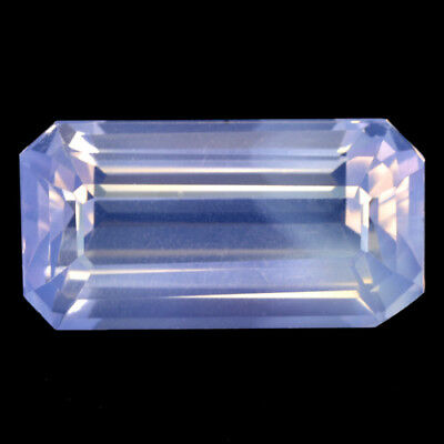 $34.99 • Buy 10.90Cts Deluxe Natural Lavender Quartz Emerald Cut Loose Gemstone Ref -Video