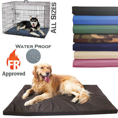 £18.89 • Buy Waterproof Dog Cage Mat FR Approved Heavy Duty Mattress Outdoor Crate Bed Pad