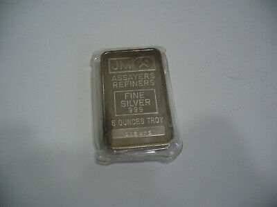 $ CDN249.99 • Buy Lot  Of   1    Johnson  Matthey  Silver     5  Ounce  Silver  Bars   Bullion