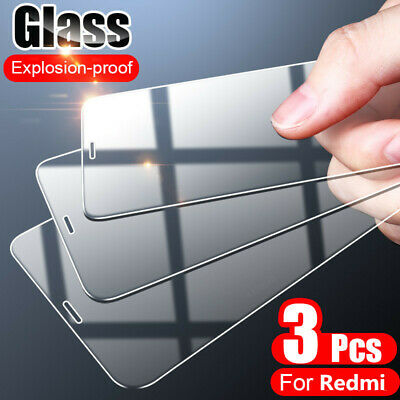 AU4.50 • Buy 3Pc HD Clear Tempered Glass Screen Protector Film For Xiaomi Redmi Note 9S 9 Pro