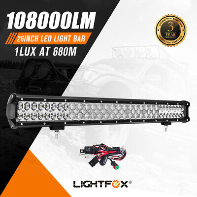 AU79.95 • Buy 26inch Cree LED Work Driving Light Bar Spot Flood Combo Offroad Truck 4X4WD