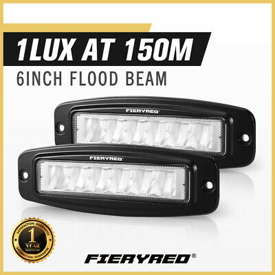 AU32.95 • Buy DEFEND INDUST Pair 6 Inch Flush Mount Led Work Light Bar Flood Reverse Lamp 4WD