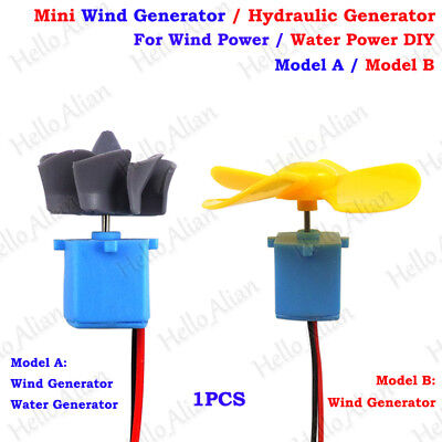 Mini Wind Turbines Generator Hydraulic Water Generator Student Project DIY Kit • 3.06£